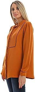 M.Sou Blouses Full Sleeve Shirt Neck SizeFor Women