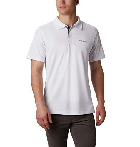 Columbia Men's Big Utilizer Short Sleeve Polo Shirt, White, 5X Tall