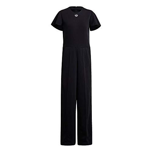 adidas Damen Jumpsuit Trainingsanzug, Schwarz, 40 EU