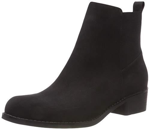 Bianco Damen Back Elastic Chelsea Boots, Schwarz (Black 100), 36 EU