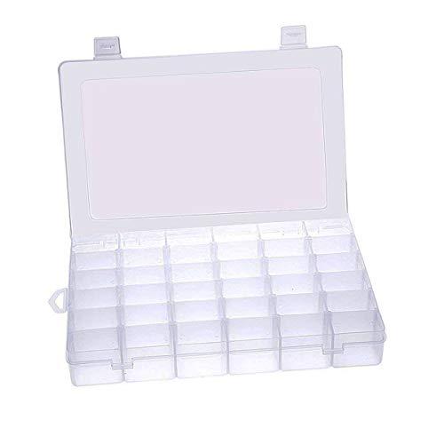 36 Fächer Aufbewahrungsbox Einstellbar Fächer Plastik Sortierbox Schmuckschatulle Werkzeugcontainer für die Schmuck, Perlen und andere Mini waren Sortierkästen