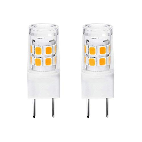 G8 Led Bulb 3W Equivalent to WB25X10019 20W Halogen Lamp Bulb 20W Replacement for GE Microwave, 120V Warm White 3000K (2 Pack)