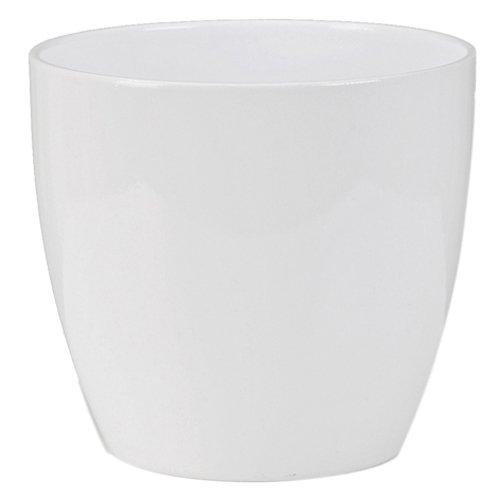 Scheurich Übertopf, aus Keramik, 28 cm, Weiß