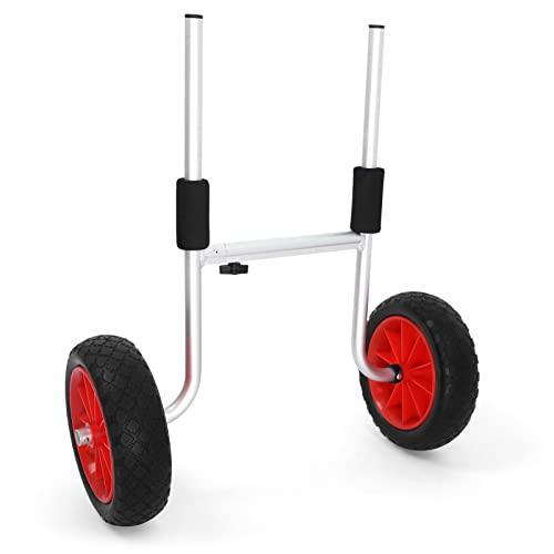 HWGQL 5 0kg / 65kg Capacidad de Carga Plegable Detachable Kayak Trolley Ahorro de energía Carrito de Kayak de Dos Ruedas Transportador de Bote de Asalto de Kayak (Color : Black and Red)
