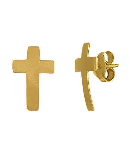 Pendientes Cruz Oro Amarillo 18K | Priority | Pendientes de oro | Pendientes 18k | Pendientes para regalar | Pendientes de mujer |