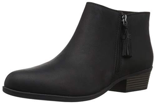 Clarks Women's Addiy Terri Fashion Boot, Black Leather, 075 M US