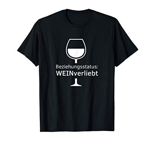 Beziehungsstatus WEINverliebt Geschenk Weinliebhaber Wein T-Shirt