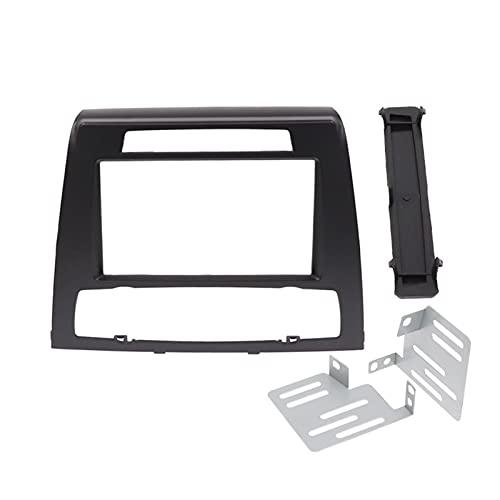 Weiyang Adaptador de fascia de radio DIN 2 para BMW 1 Marco E81 de la serie DVD Kit de montaje de panel estéreo Kit de ajuste de montaje envolvente Double Din Frame Placa