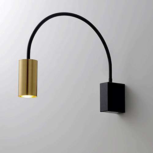 Aplique de pared Lámpara de pared de lectura de lectura de lectura LED, Luz de pared de sala de estar, Lámpara de pared de pasillo, LED 5W 3000K, Metal Decorativa Lámpara de pared ( Color : B )
