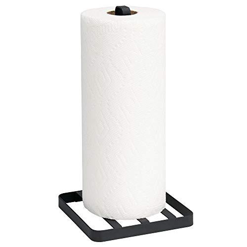 portarrollos de papel para la cocina sin taladrar portarrollos de acero inoxidable 31 cm 1 pieza - pie de ventosa COM-FOUR/® portarrollos de cocina de pie con soporte de ventosa