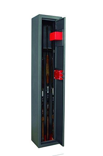 2 catenacci in acciaio nichelato, diametro 18 mm Rastrelliera in legno rivestito in velluto, pedana di appoggio in moquettes e cassetto porta oggetti fissato sulla porta Fori per fissaggio a parete o pavimento Colore grigio scuro