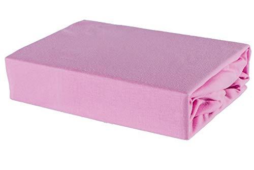 Soft Dream Doppelpack Jersey Bettlaken 80x160 80x180 80x200 90x160 90x200 (80 x 160 cm, Rosa)