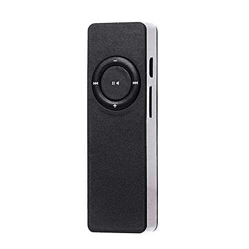 Reproductor de MP3 USB Mini portátil La reproducción de música Externa admite Tarjeta MicroSD TF de 128 GB, MP3 con Altavoces externos, para Escuchar y Aprender inglés Walkman,Freljorder (Negro)
