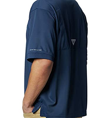 Columbia Men's PFG Perfect Cast Polo Shirt, Breathable, UV Protection, Large, Collegiate Navy