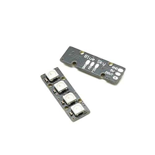 nbvmngjhjlkjlUK LED-Streifen, tragbare Super Mini-LED-Streifen mit 4 Ws2812B Rg85050 Bunte LED-Lampe für Naze32 Cc3D Flight Controller Rc Drohne (schwarz)