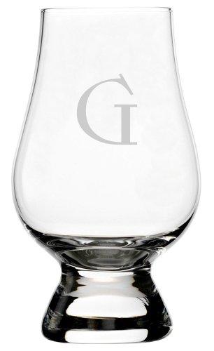 Celtic Etched Monogram Glencairn Crystal Whisky Glass (Letter G)