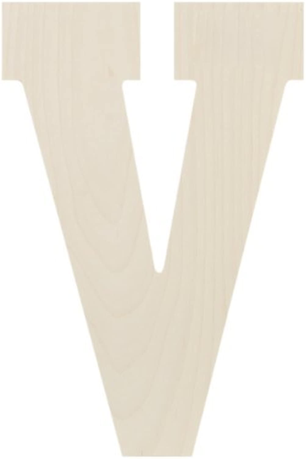 Baltic Birch Collegiate Font Letters & Numbers 13.5V by Things for You