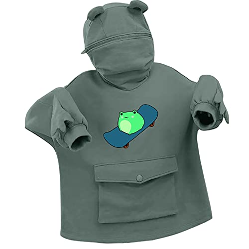 Sudadera con capucha para mujer, chaqueta deportiva, sudadera con capucha, otoño e invierno para niña, manga larga, sudaderas, verde, XL