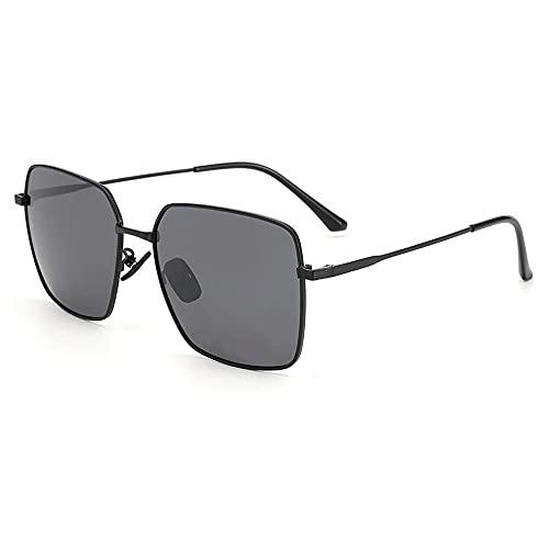 Cuadrado Anti-UV Gafas De Sol para, Hombres Moda ProteccióN para ConduccióN Gafas De Deportes Al Aire Libre De Pesca De Moda Regalo De San ValentíN (Color : Black Ash)