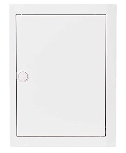 Abb-entrelec bl510 Tür mit weißem Alurahmen, blickdicht