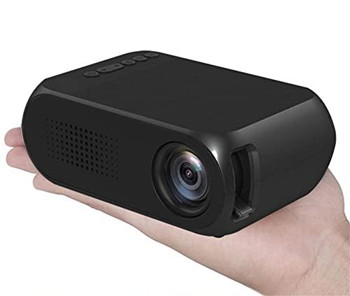 Xyfw Proyector LED 600 Lúmenes 3,5 Mm Audio 320X240 Píxeles HDMI USB Mini Proyector Home Media Player