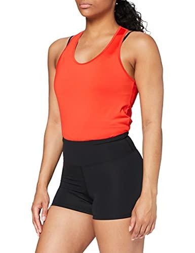 Amazon-Marke: AURIQUE Damen Sportshorts 2er Pack, Schwarz (Black), 40, Label:L