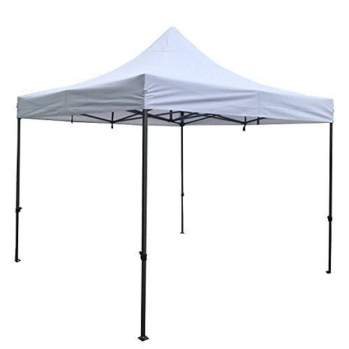 AAA Best K-Strong Outdoor Pop Up Canopy Tent 10' x 10', Portable Instant Canopy Shelter (White)