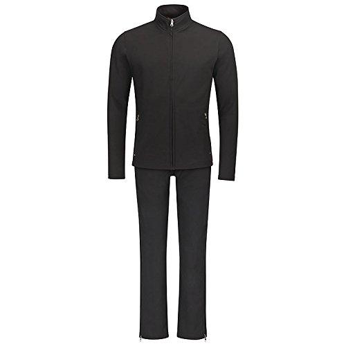 Fitter ins Leben REHA-Set: Freizeithose mit passender Jacke, Unisex in Schwarz (Schwarz, XS) Neue Hochwertige Reha- und Freizeitkleidung aus geprüftem Wellnesstextil