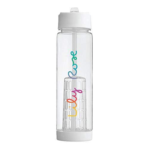 Bantersaurus Personalisierte auslaufsichere Kunststoff-Wasserflasche mit Liebesinsel-Design, bunt, isoliert, für Kinder, Sport-Geschenk mit motivierendem BPA-frei