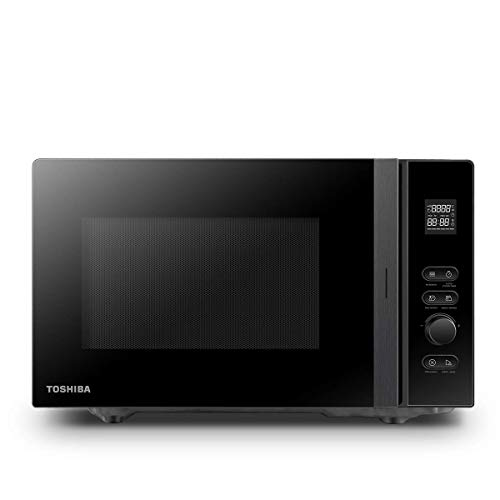 Toshiba 800 w 20 L Microwave Oven with 12 Cooking Presets, Upgraded Easy-Clean Enamel Cavity, Weight/Time Defrost, and Turntable with Position Memory Function - Black - MV-AM20T(BK), Amazon Exclusive