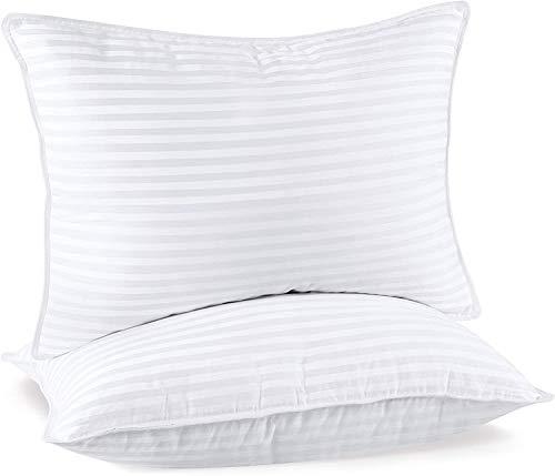 Utopia Bedding Almohadas (2 Unidades) - 50 x 70 cm Almohadas de Primera - Funda de Mezcla de Algodón - Fibra Hueca Virgen Siliconada - Almohadas Suave de Fácil Cuidado (Blanco)