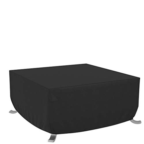 Amazon Basics - Funda para mesa/hoguera cuadrada de terraza - 1,06 m, Negro