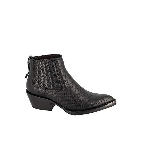 Ash Boots Croco Snake Noir