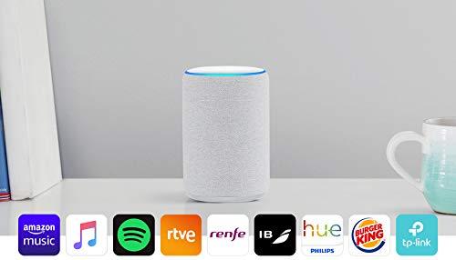 Echo Plus (2.ª generación) - Sonido de alta calidad y controlador de Hogar digital integrado, tela de color gris claro