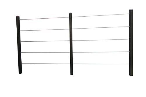 Rankmanufaktur Design Rankhilfe Rankgitter Spalier Holz Edelstahl inklusive Befestigungsset (Doppelelement, kesseldruckimprägniert)