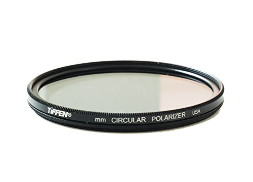 Tiffen 58CP 58MM Circular Polarizer Glass Filter Black