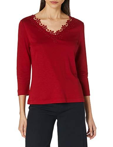 ESPRIT Collection Damen 120EO1K318 T-Shirt, 610/DARK RED, M