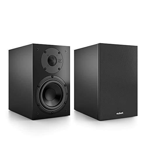 Nubert nuBox 313 Regallautsprecherpaar | Lautsprecher für Stereo & Musikgenuss | Heimkino & HiFi auf hohem Niveau | Passive Regalboxen mit 2 Wege Technik | Kompaktlautsprecher Schwarz | 2 Stück