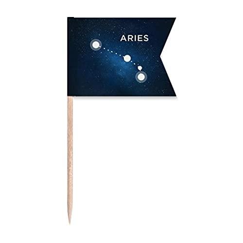 Beauty Gift Sternbild Widder Markierung für die Kennzeichnung von Zahnstocher-Flaggen