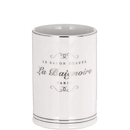 Butlers Salon BEAUTÉ Becher - Charmanter Becher aus Steinzeug für Ihr Badezimmer | Badezimmerutensilien | Salon BEAUTÈ Becher