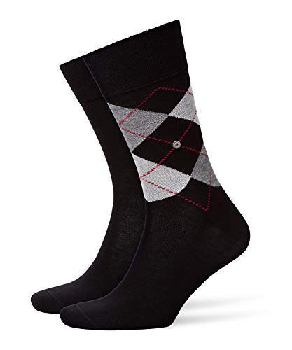 Burlington Herren Everyday Mix 2-Pack M SO Socken, Schwarz (Black 3000), 40-46 (UK 6.5-11 Ι US 7.5-12)