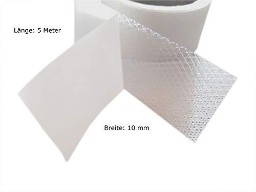 Fashion-Sonderposten Saumband Bügelband Saumfix Fixierband beidseitig in Weiß, 5 Meter Länger, 10 mm Breiter