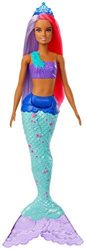 Barbie- Dreamtopia Muñeca Sirena, pelo rosa y morado, Color