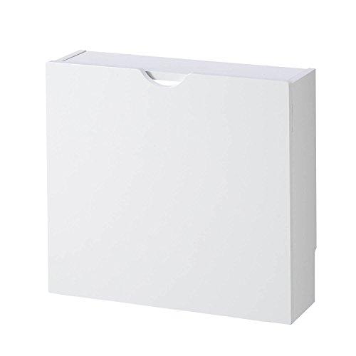 [ベルメゾン] ルーター収納 ケーブルボックス 薄型 収納ケース・ボックス ホワイト ワイド