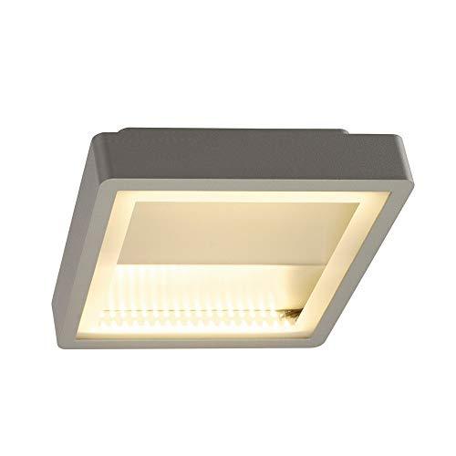 INDIGLA WING, gris argent, 2x36 SMD LED, 15W, 3000K, IP54