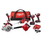 Milwaukee 2695-26CX M18 Cordless 6-Tool Combo Kit