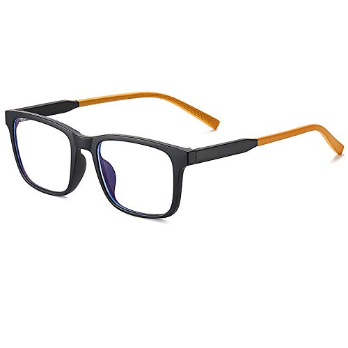 xzczxc Tr90 Flexible Anti Blue Light Blocking Glasses For Kids Computer Gaming Glasses For Children Age 5-12 Black