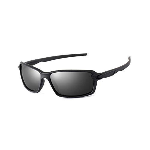 Sport-Sonnenbrillen, Vintage Sonnenbrillen, Rectangle Sunglasses Men Polarisiert UV400 High Quality Spiegel Driving Sun Glasses Fashion Brand Lentes De Sol Hombre BLACK GRAY