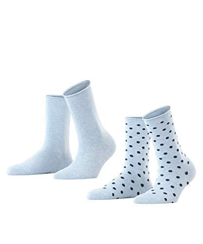 ESPRIT Damen Dot 2-Pack W SO Hausschuh-Socken, Blau (Light Denim 6668), 39-42 (2er Pack)