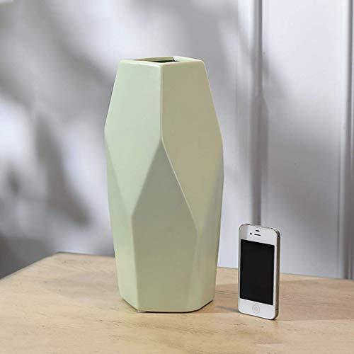 HQQSC Jarrones de Protección Ambiental de decoración del Dormitorio de Alta Temperatura Seleccionar Color de Barro Antislip Mats Flor de cerámica Jarrón (Color : A, Size : Large)